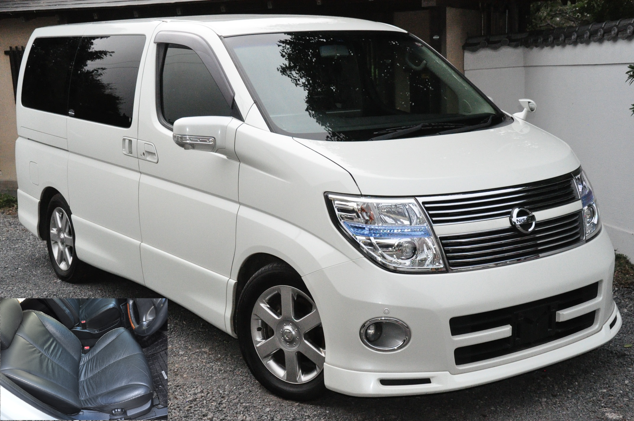 2009 (March) Nissan Elgrand (NE51) 4WD Highway Star Black Leather Urban Selection 3500cc auto